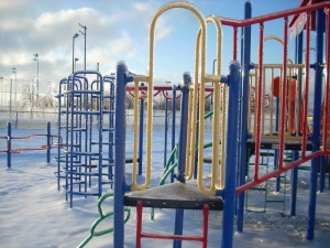 Ice on Playground