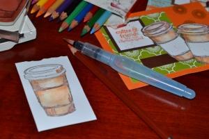 watercolour scrapbook
