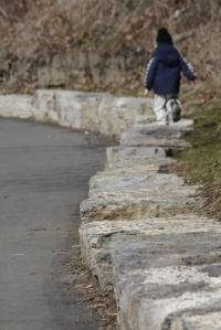 running on the rocks