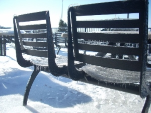 Icy patio chairs