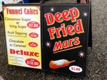 Deep Fried Mars Bar Sign