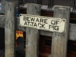 """Attack Pig"" Sign"