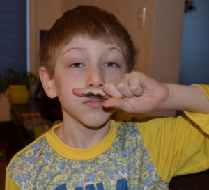 Finger Moustache