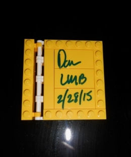 Signed Lego Book
