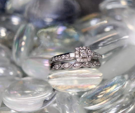Wedding Rings on Stones