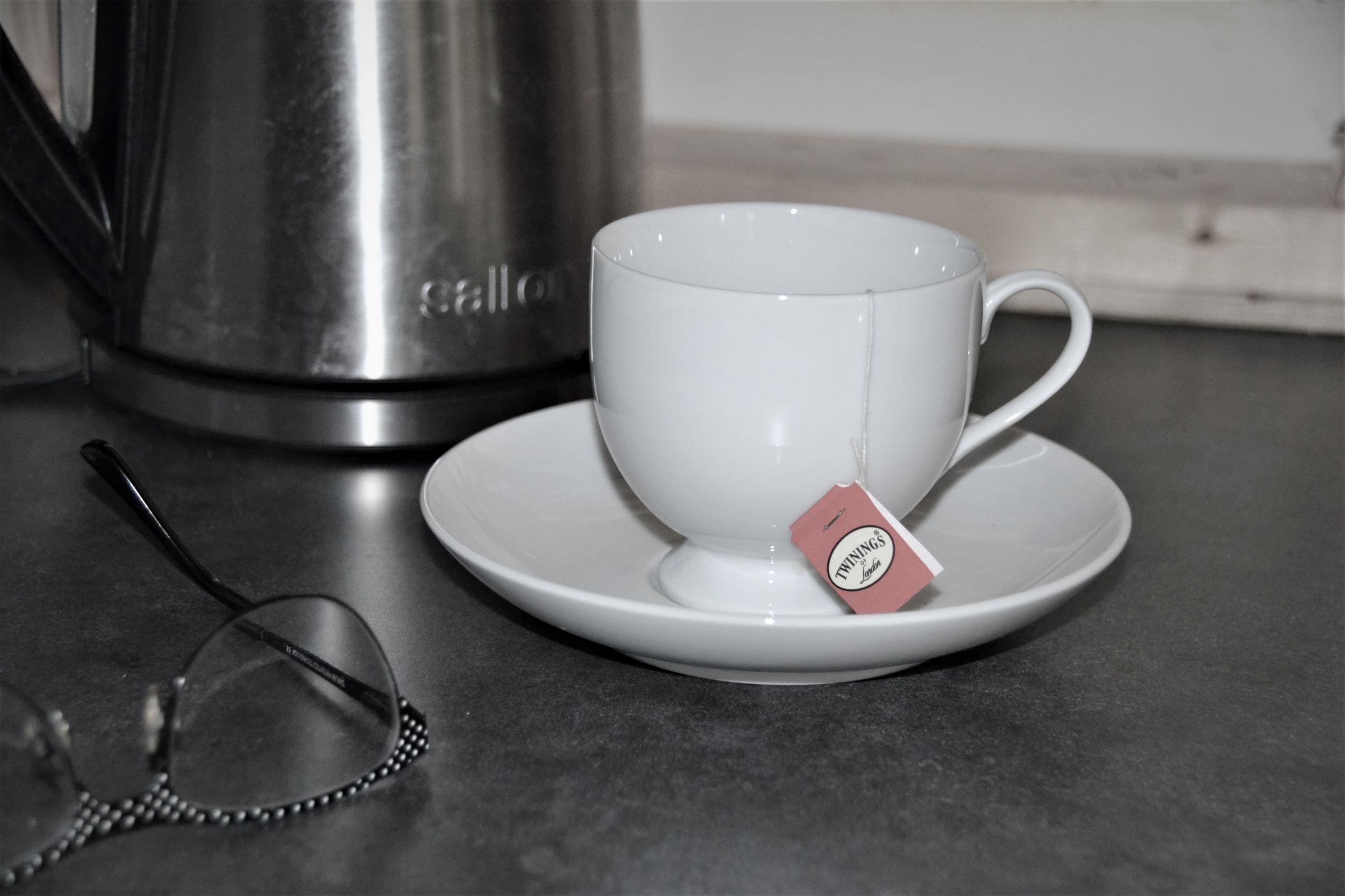 Tea kettle b-w